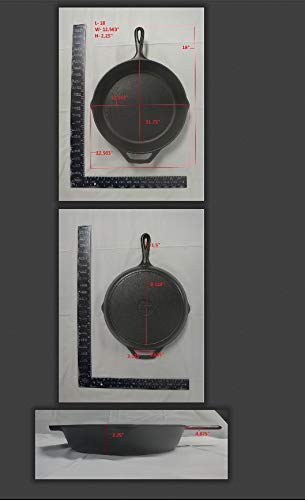 Lodge 12 Inch Cast Iron Skillet. Pre-Seasoned Cast Iron Skillet with Red Silicone Hot Handle Holder. by Lodge (Image #4)