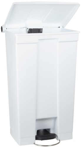 Rubbermaid Commercial Step-On Trash Can, 8 Gallon, White, FG614300WHT