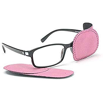 Adecco LLC 6pcs Amblyopia Eye Patches For Glasses, Kids Eye Patch,Strabismus, Lazy Eye Patch For Children (pink)