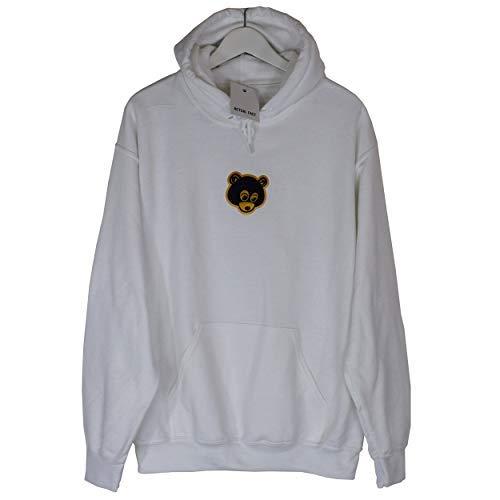 Brodé West Hip Capuche Ours Rap Haut Actual Sweatshirt Blanc Hop Kanye Fact Crochet Rétro A Sweat SEtxwa0qOw