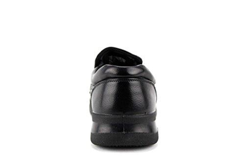 Hans Mens WZ14026 Slip Resistant Restaurant Work Loafers Shoes Black