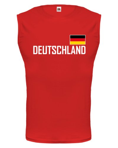 Tank Top Deutschland-L-Red-
