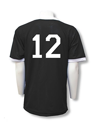 - Reversible sports jersey, personalized with back numbers - size Adult XL - color Black/White