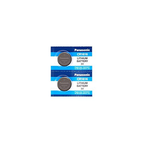 Panasonic CR1616 3V Coin Cell Lithium Battery, Retail Pack of 2 (3 Volt Coin Cell Battery)
