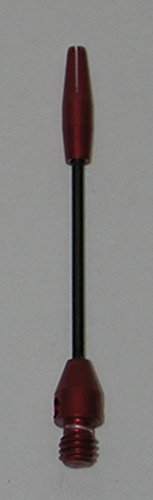 US Darts 2 Sets (6 Shafts) Micro-Thin Steel Dart Shafts, Red Medium, 2BA, O'rings ()