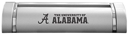 Contemporary Place Card Holders - LXG, Inc. University of Alabama-Desk Business Card Holder -Silver