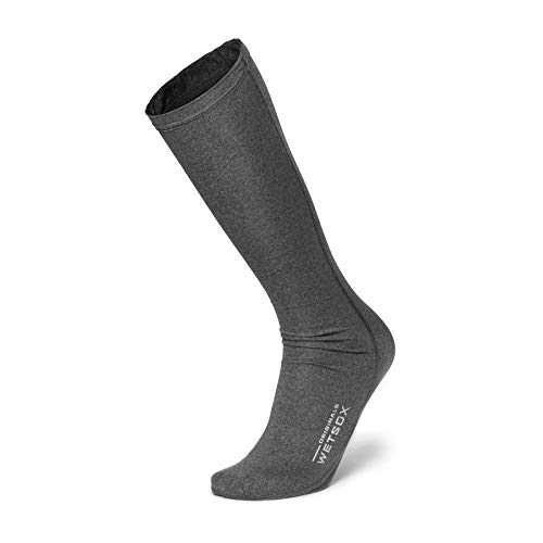 WETSOX Originals Round Toe- The Only Wetsuit/Water Sock Accessory Designed to Reduce Friction, Insulate and Prevent Chafing (Gray, Medium)