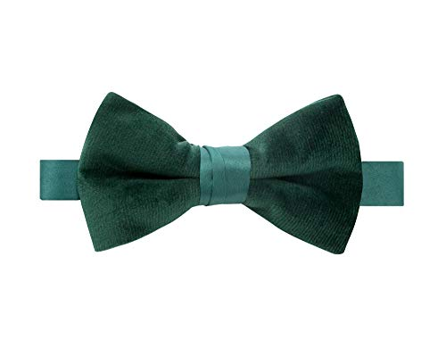 Spring Notions Boys Velvet Bow Tie Large Emerald