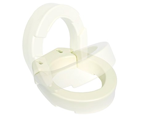 Essential Medical Supply Hinged Toilet Seat Riser for Standard Toilets