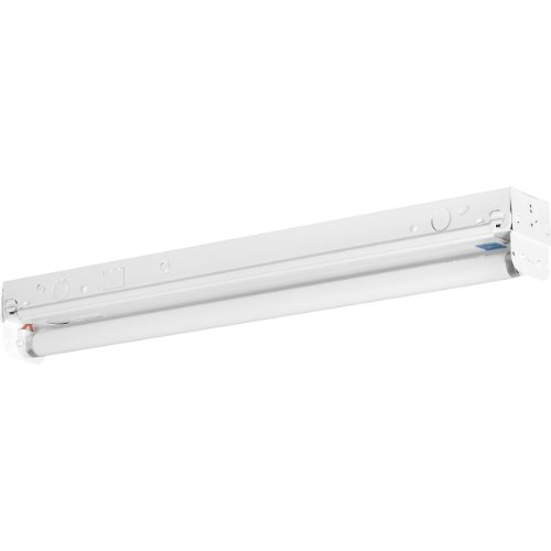Fluorescent F17t8 Light Fixture - Progress Lighting P7265-30EB Fluorescent Strip Lights 120 Volt Normal Power Factor Electronic Ballast, White