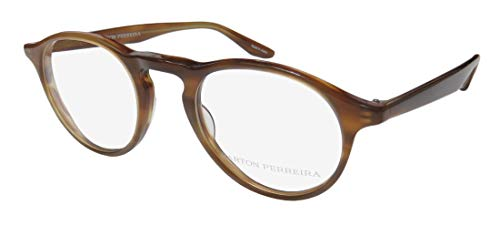Barton Perreira Mcgraw Mens/Womens Designer Full-Rim Shape Beautiful Adult Size Eyeglasses/Eyeglass Frame (47-21-145, Brown) (Brillen Made In Japan)