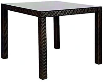 Tavolo Quadrato da Giardino mod. Sciacca in Polyrattan