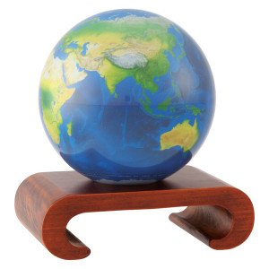 4.5'' Natural Earth MOVA Globe with Arched Base in Natural Wood