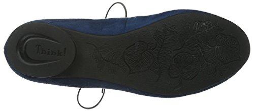 Think Guad, Zapatillas De Estar por Casa para Mujer Azul