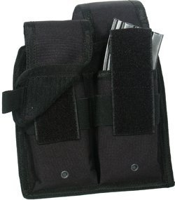 (UTG Web System Double Rifle Mag Pouch, Black)