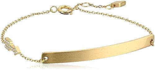 Fossil Arrow Plaque Bangle Bracelet, Gold tone Fossil Womens Charm