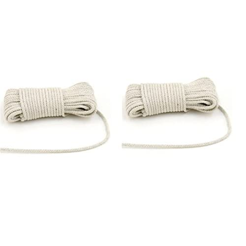 2 Pack Cotton Clothesline 50 Ft All Purpose Rope Home Garden Camping Fishing General supplier