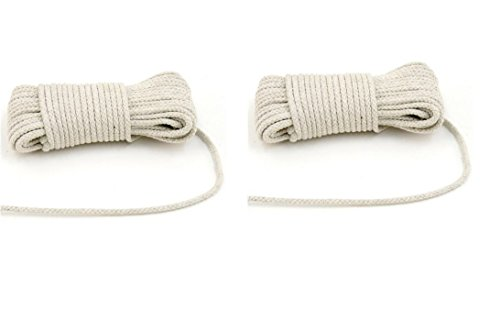 2 Pack Cotton Clothesline 50 Ft All Purpose Rope Home Garden Camping Fishing General by My Helper For DINY Home & Style
