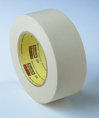 3M (234-48mmx55m) General Purpose Masking Tape 234 Tan, 48 mm x 55 m 5.9 mil [You are purchasing the Min order quantity which is 24 Rolls]