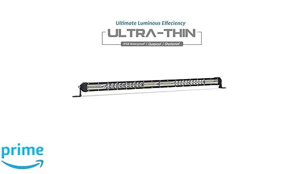 Car & Truck Parts Ultra-thin 20inch 200W LED Work Light Bar Spot Flood Combo Truck Single Row 20 Light Bars