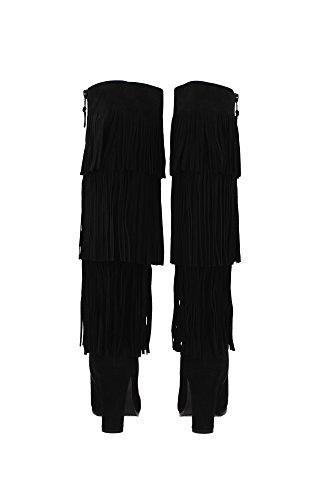 SL72414BLACKSUEDE Stuart Weitzman Botas Mujer Gamuza Negro Negro