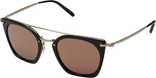 Oliver Peoples Women's Dacette Dark Military/Brushed Gold/Graphite Gold Mirror One - Peoples Oliver Pads Nose