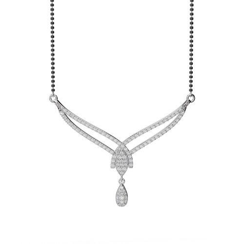 Or blanc/or jaune/Platinum-Collier Femme-diamant mangalsutra ims-1785-vsgh