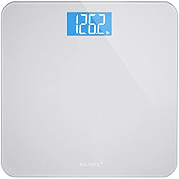 Digital Body Weight Bathroom Scale by GreaterGoods, Large Glass Top, Backlit Display, Precision Measurements (Digital Scale New)