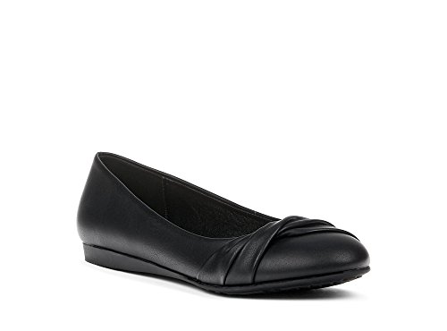 Made Work Perfect Memory amp; Going Any Black Shoes Ballerina Comfy Summer Foam from for Fall Indoor amp; Casual Leather Outdoor in Spring to Flat Comfortable Continual Activity Or Synthetic Womens Walking HqP0ZZ