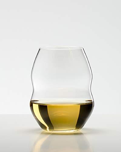 - Riedel Swirl White Wine Glasses, Set of 2