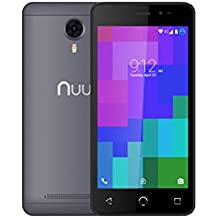 """NUU Mobile A3 5.0"""" Dual SIM Android Marshmallow Smartphone with 1YR Warranty, Grey"""