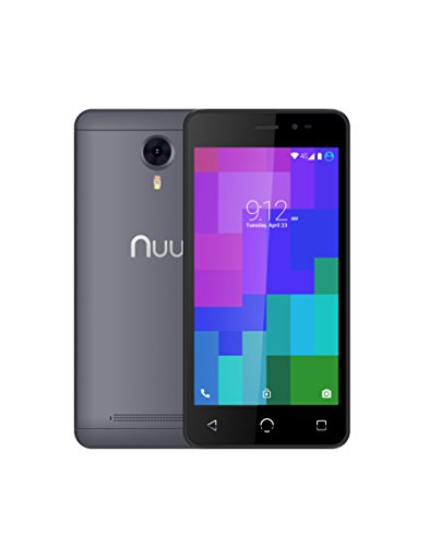 NUU Mobile A3 5.0' Dual SIM Android Marshmallow Smartphone with 1YR Warranty, Grey