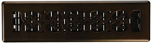 Bronze Scroll Vent Floor Register (Decor Grates SPH212-RB Scroll Plated Register, 2-Inch by 12-Inch, Rubbed Bronze)
