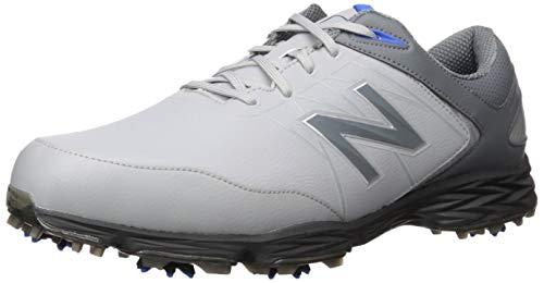 New Balance Men's Striker Waterproof Spiked Comfort Golf Shoe, Grey/Blue, 10.5 D D ()