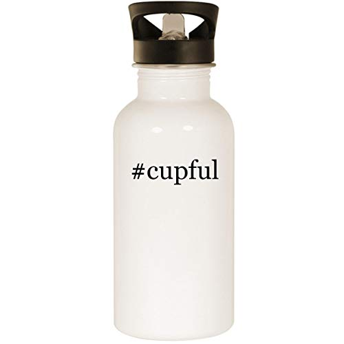 #cupful - Stainless Steel Hashtag 20oz Road Ready Water Bottle, White (Live Cricket World Cup 2015)