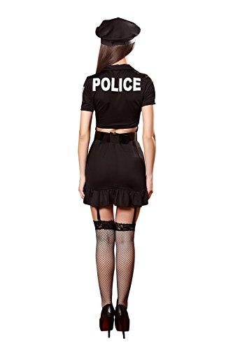 FLH Los uniformes de la policía Halloween Temptation Set Cosplay Trajes Uniformes de juego erogeno ( Color : Negro , Tamaño : One size ) Negro