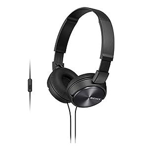 Sony MDR-ZX310AP On Ear Headphone with Mic (Black)