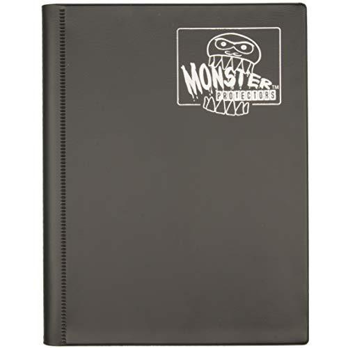 Monster Binder - 4 Pocket Matte Black Album - Holds 160 Yugioh, Magic, and Pokemon Cards