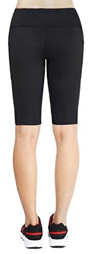 Munvot Women Running Workout Tights Yoga Shorts Half Tights With Pockets