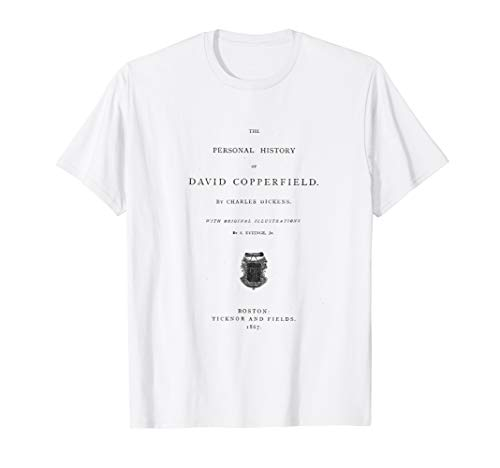 David Copperfield Charles Dickens Title Page T-Shirt -