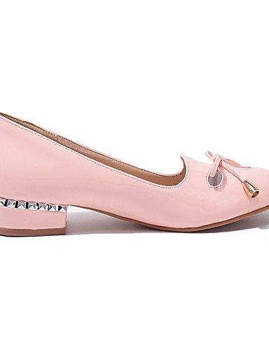 Pink Almond Wholesale Eu39 e Scarpe punta Uk6 Pelle punta da Ggx Casual Cn39 Heel comfort Scarpe verniciata donna Ufficio Verde Pink lavoro con tacco us8 a qv1wgzw
