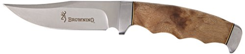 Browning Fixed Blade with Burlwood Handle, 9.5 in. BR537