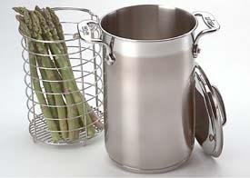 Dishwasher Safe Stainless Steel Steamer - All-Clad 59905 Stainless Steel Dishwasher Safe Asparagus Pot with Steamer Basket Cookware, 3.75-Quart, Silver