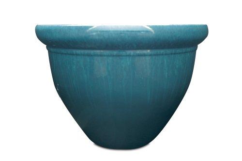 - Listo Pizzazz Resin Pottery Planter, 9-Inch, Blue Drip Glaze