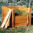 Holz Komposter - 75 cm x 72 cm x 72 cm.