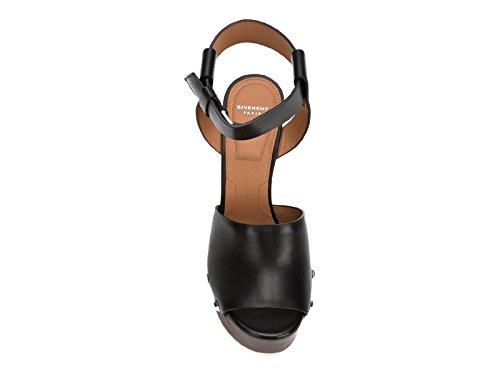 Negro Givenchy Be08749004001 Mujer Sandalias Cuero wxTUx