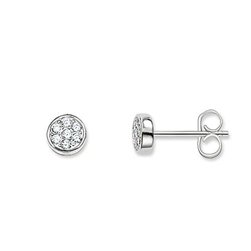 Thomas Sabo H1848-051-14 Ladies Sparkling Circles Zirconia Pave Disc Stud Earrings (Thomas Sabo Earrings)