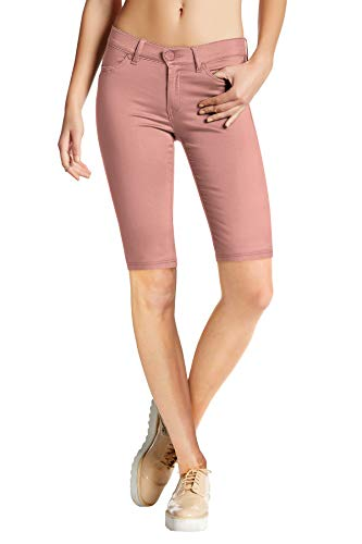 HyBrid & Company Womens Perfectly Shaping Hyper Stretch Bermuda Shorts B44876 BlushXL ()