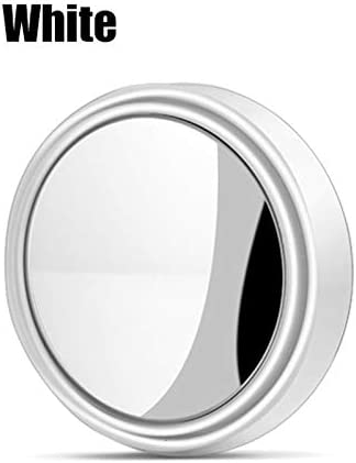GIVELUCKY 1 STÜCK Auto Rückspiegel Kleine Runde Spiegel Vision Reverse Assist Blinden Fleck Spiegel Autozubehör Weiß