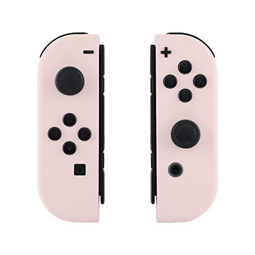 (eXtremeRate Soft Touch Grip Sakura Pink Yellow Joycon Handheld Controller Housing with Full Set Buttons, DIY Replacement Shell Case for Nintendo Switch Joy-Con - Console Shell NOT Included )